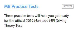 Manitoba Practice Test