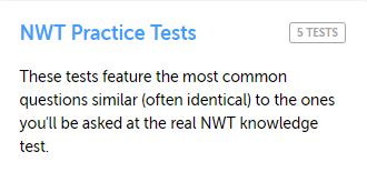NW Territories Practice Test