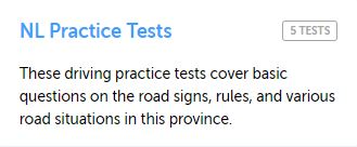 Newfoundland Practice test