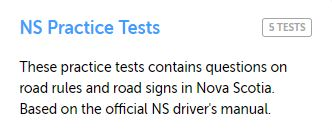 Nova Scotia Practice Test