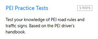 PEI Practice Test